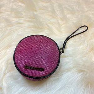 BCBG Round Hot Pink Fuchsia Wristlet Bag